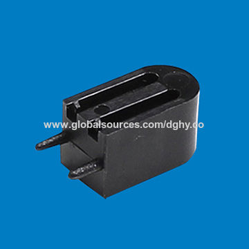 China LED lamp holder, made of nylon66, in black color
