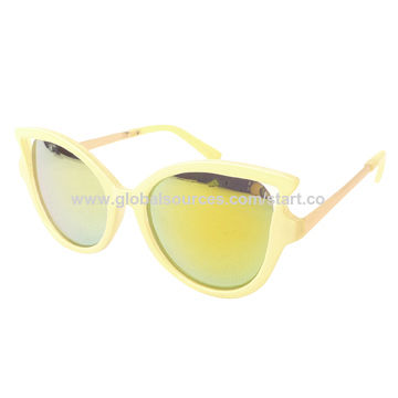 Cat eye Sunglasses with plastic frame, UV 400 lens, OEM welcome, CE, FDA approve,color optional