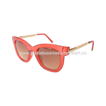 Women Sunglasses with plastic frame, UV 400 lens, OEM welcome, CE, FDA approve,color optional