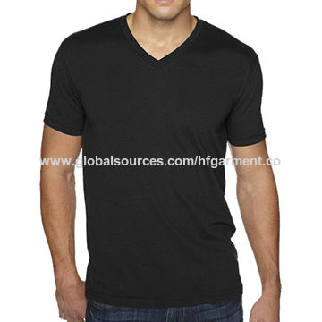 High quality polyester plain v neck t shirts for men,custom design,logo,size,label,color are welcome