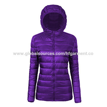 Hot sale high quality ultralight down winter jacket for women
