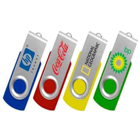 China Hot Selling Colorful Swivel Plastic16GB customized logo USB flash drive