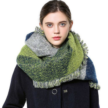 Ladies winter woven scarf