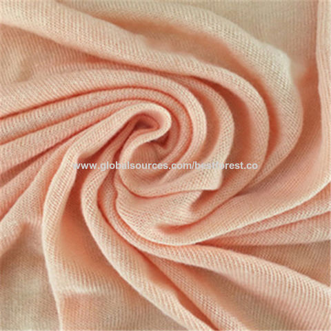 Luxury Cupro Modal Spandex Single Jersey Fabric