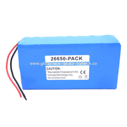 Lithium Iron Phosphate Battery Pack, 25.6V 12Ah Soft Pack, 22650 Cell, UL1642 CE comply