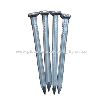 Galvanized steel nail with vertical groove, manufacture price