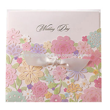 Wedding Invitation Card/Birthday or Party Invitation card, from Invitation Card Manufacturer