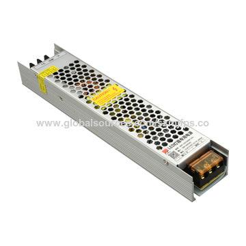China Strip power supply, 12V/16.7A/200W, for light box, slim design, thickness 30mm