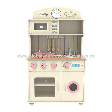 China Wooden Pink Play Kitchen