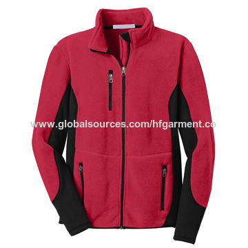 Printing Embroidery fleece bomber jacket made in Fuzhou very comfortable and keeps warm