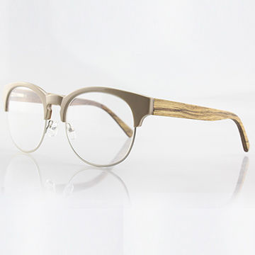 Acetate frame, mixed frame with laminated wood temple optical glasses