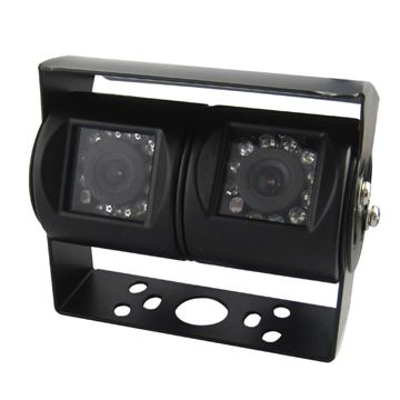 China Double Lens Camera with IR, 1/3-inch Sony Color CCD Image Sensor, 4.9 x 3.7mm Sensitive Area