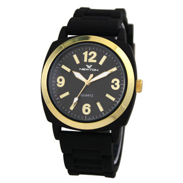 Cheap IP Gold Top Ring Analog Watch with Japan Movement
