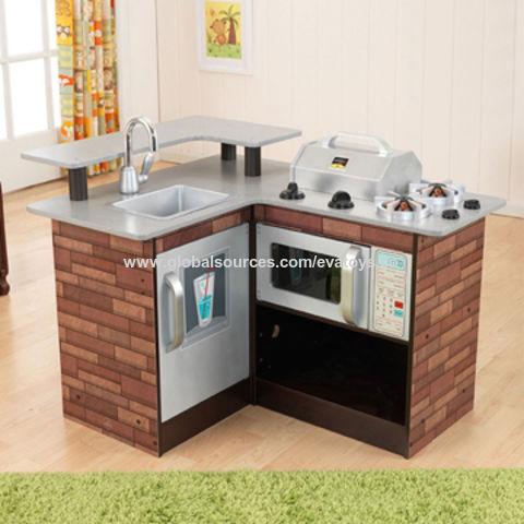 China 2017 New Design Grand Kids Play Set Wooden Corner Kitchen Toy W10c258