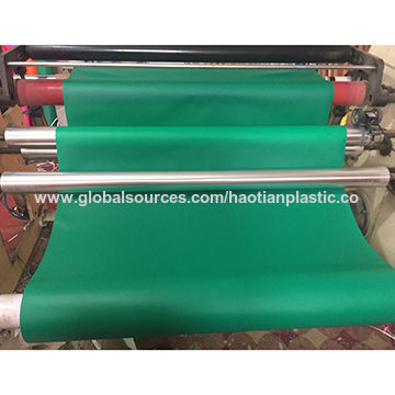 Green PVC film, used for stationary or book cover