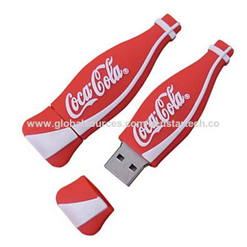 PVC bottle USB flash drive, pass H2 test, 512MB to 64GB, welcome your own customized designs