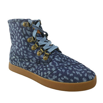 Women's fashionable boots with denim upper and rubber outsole, 35-40# available size