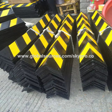 Right Angle Rubber Corner Guard High Quality Rubber Reflective Protector