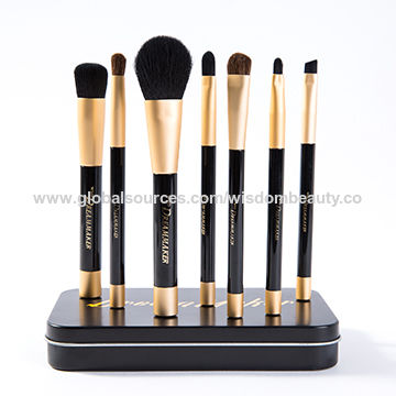 2017 New Design 7pcs Makeup Brush Set Iron Box Magnet New Arrival Self-Supporting Design