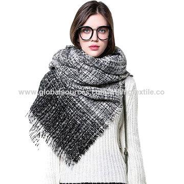 Ladies all-match scarf/CAPE with Lattice