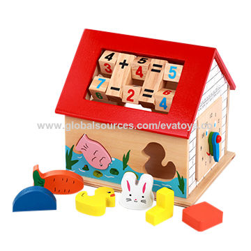 Childrens Wooden Multi Activity Cube