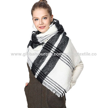 Ladies all-match scarf with Lattice