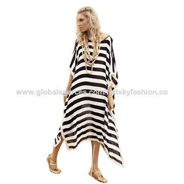 Women's customized 100% silk kaftan dress