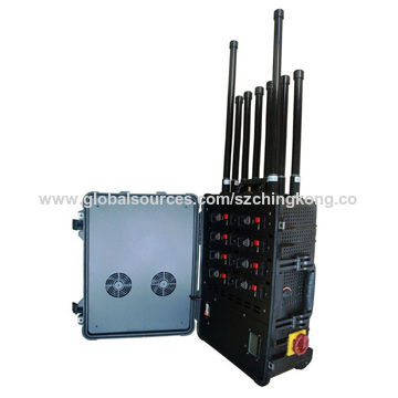 Portable High Power Bomb Jammer, 8 Channels Mobile Signal Jammer, RF Signal 315 433 868MHz Pelican B