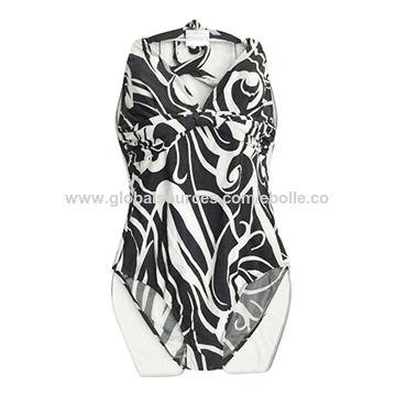 Sexy One-Piece Women Bikini Padded Monokinis, with Trendy Printing