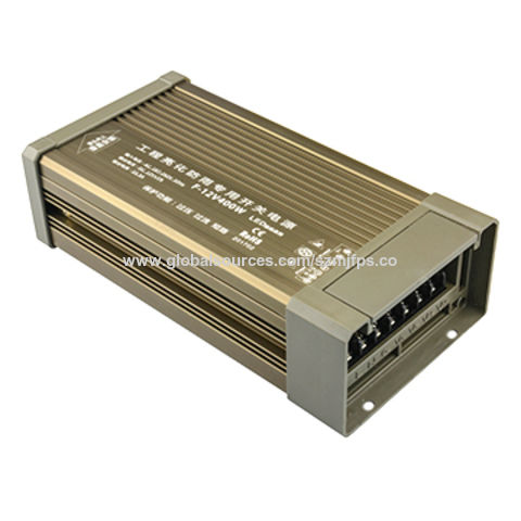 China Switching Power Supply, 12V/33.3A/400W, Outdoor Installation, IP65, Evolution Champagne, Small Size