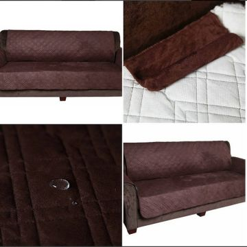 China Surefit Quilted Micro Suede Polyester Reversible Waterproof Furniture Protector Sofa Slipcover