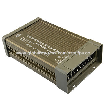 China LED Power Supply, 12V/33.3A/400W, Outdoor Installation/Rain-proof/IP65/Evolution Champagne