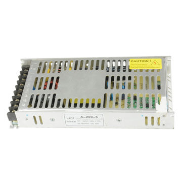 China Switching Power Supply, 5V/40A/200W/Special for LED Display/Indoor Installation/New Design/Slim
