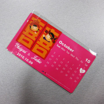 China Magnetic Refrigerator Calendars, Available in Various Sizes, Made of Paper and Magnet