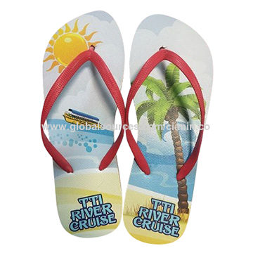 PE Flip-flops with artwork printing
