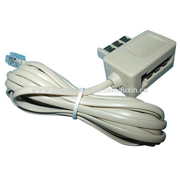 China French plug and jack to US plug with extension cord.