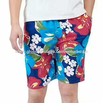 Men's swimming trunks with different printings