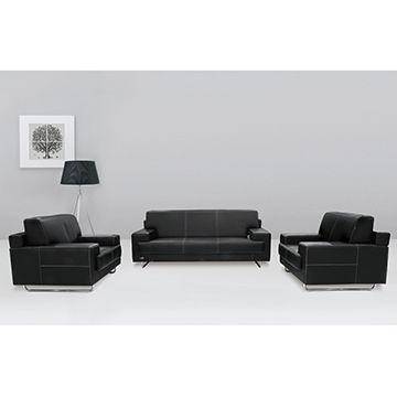 China Luxury leather sofa office furniture reception room PU ...