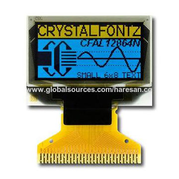 0.96-inch 128x64 Blue Yellow OLED Display Module