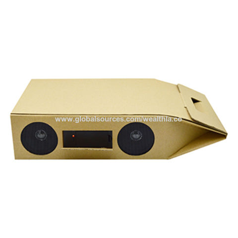 Hong Kong SAR Promotional Amplifier Speaker wine box pack for carrying 2 red wines, made of cardboard