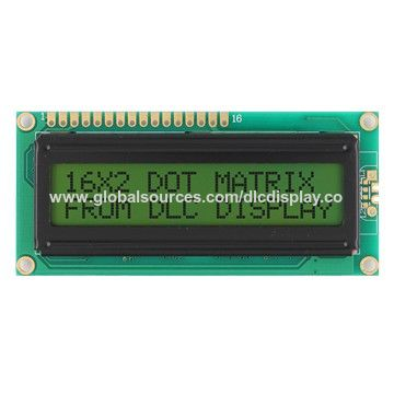 China 16x2 Characters Monochrome LCD display module
