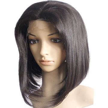 China 150% Density Black Straight Glueless Bob Wig