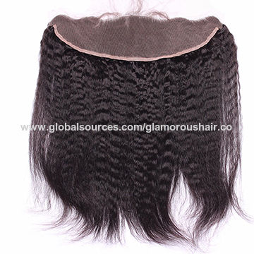 China Virgin Brazilian hair ear to ear lace frontal