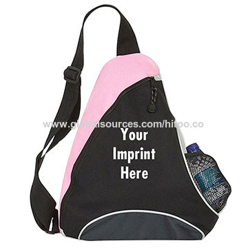China Custom triangle backpack crossbody sling bag for student passed BSCI Sedex SA8000 audit