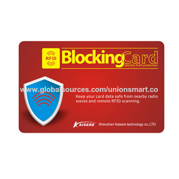 UHF RFID Blocking Card, to Protect Your Credit Card