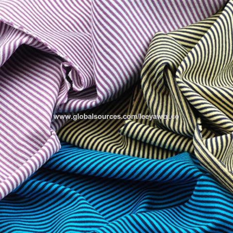 UV-Cut and Wicking Fabric in Nylon Tactel Yarn Dye Stripe Jersey