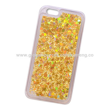 China Quicksand TPU mobile phone case, flash powder phone shell for iPhone