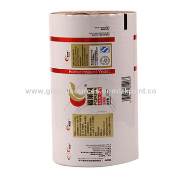 China Colorful food packaging plastic roll film for snack food packaging