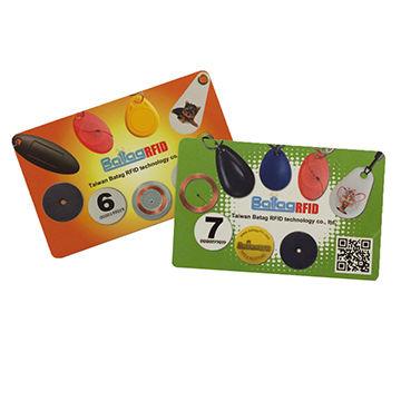 RFID PVC ISO Card, White, Dual Frequency: EM4200 (R/O) & MIFARE Classic® 1K (R/W)