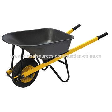 China 150kg Wheelbarrow with Pb-free/UV-resistant Powder Coating